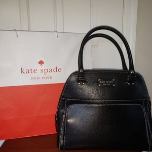 Black kate spade black leather bag